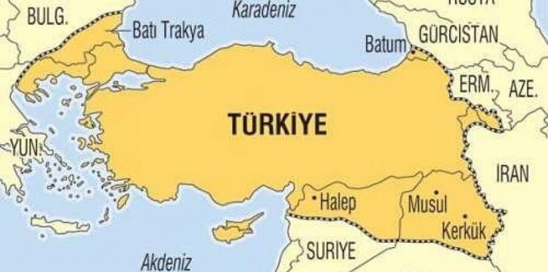 Blgariya E Chast Ot Nova Turciya Na Karta V Turski Medii