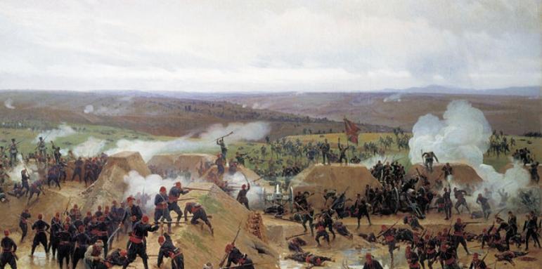 Резултат с изображение за Руско-турска война (1877-1878). Битката при Ловеч