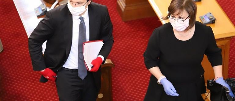 Червената лидерка Корнелия Нинова събира подписи от членовете на Националния