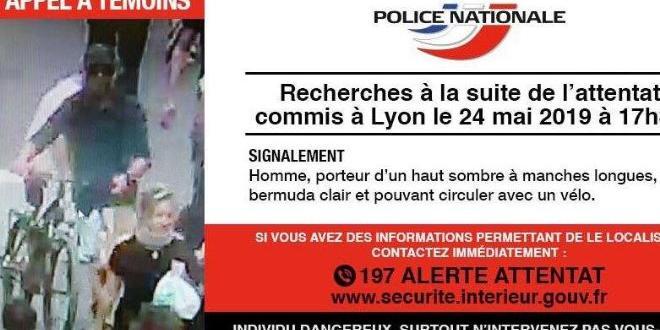 Издирваният за вчерашния атентат в центъра на Лион около 30-35-годишен