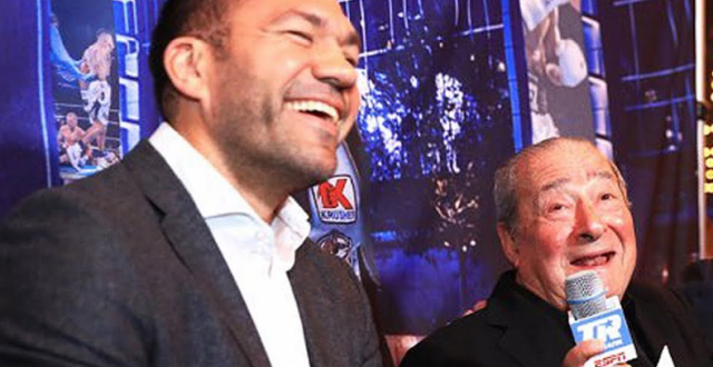 Легендарният промоутър Боб Аръм продължава със заканите преди предстоящия мач
