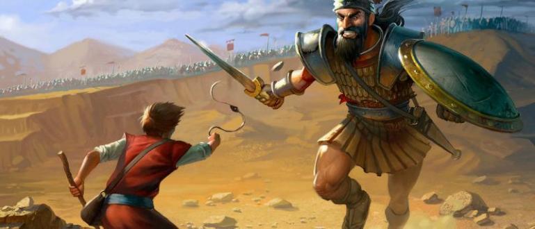 Първите версии на библейските книги разказват за воина-великан Голиат, който