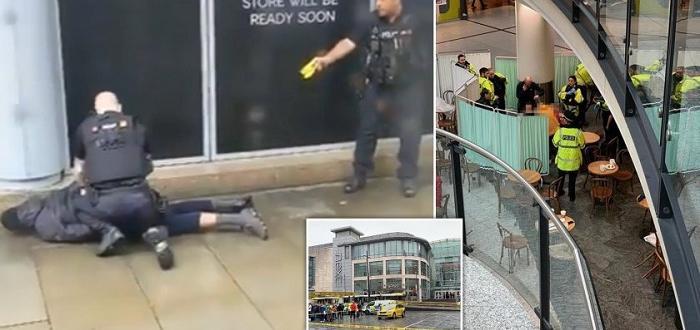 Търговският център е евакуиранПетима души бяха намушкани днес с нож