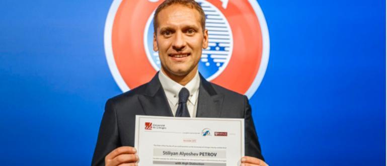 Рекордьорът по мачове в националния отбор по футбол Стилиян Петров