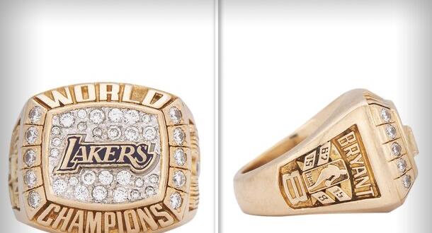 Шампионският пръстен, който Кобе Брайънт печели за първата си титла
