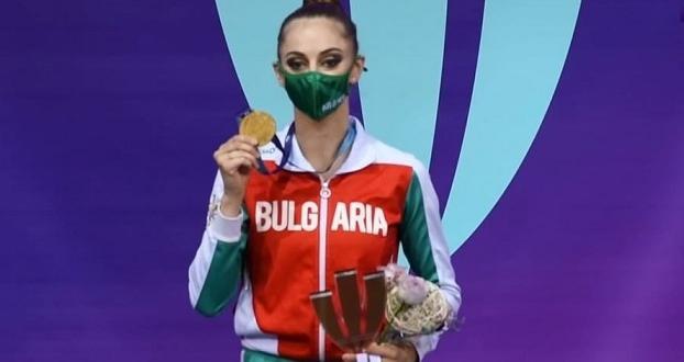 Фото:Българска федерация художествена гимнастика - Официална страница във ФейсбукБорянаКалейн спечели