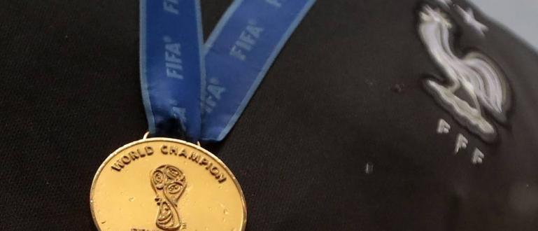 Златен медал от световното първенство по футбол през 2018 г.