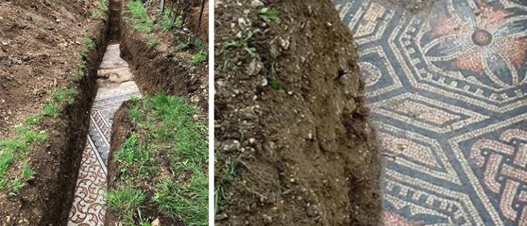 Идеално запазени красиви римски мозайки бяха открити от археолози под