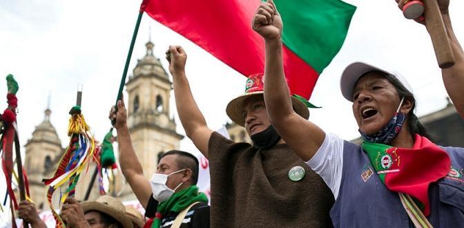 Хиляди синдикалисти, учители, студенти и местни индианци протестираха на 21