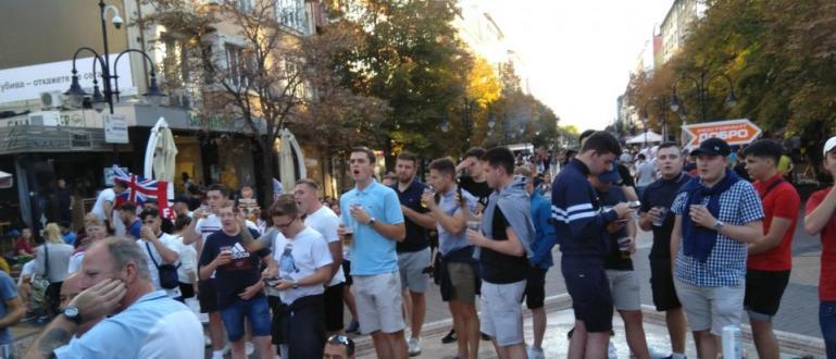 Леко напрежение се създаде в центъра на София сред феновете