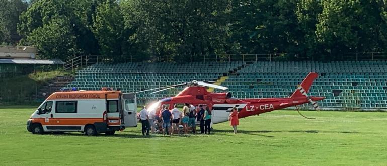 """Хеликоптер откара в болницата за спешна помощ """"Пирогов"""" в София"""