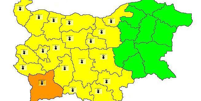 Оранжев код за високи температури е в сила за област