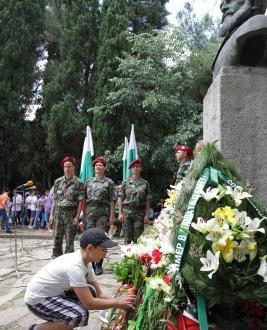 Общоградски ритуал, по повод отбелязване на Деня на Ботев и