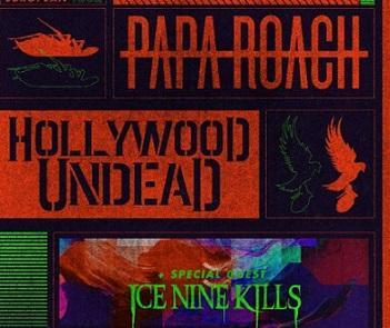 Първият съвместен концерт на американските банди Papa Roach, Hollywood Undead