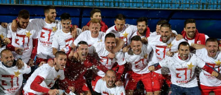 Футболистите на Цървена звезда спечелиха шампионската титла в Сърбия за