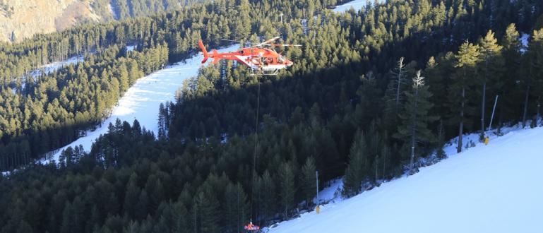 Снимка: Хеликоптери от Световната купа спасиха алпинист в Рила
