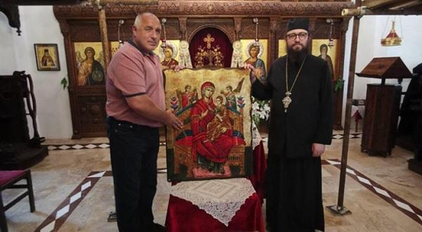 Премиерът Бойко Борисов е дарил икона на Дивотинския манастир