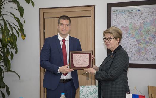По покана на кмета Живко Тодоров на двудневно посещение в