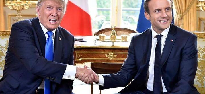 Американският президент Доналд Тръмп е приел предложението на френския държавен