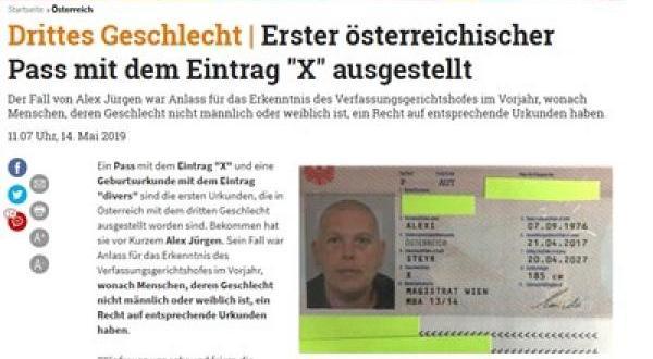 Австрия за първи път издаде сертификат за раждане, в който