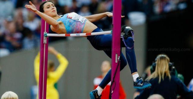 Трикратната световна шампионка в скока на височина Мария Ласицкене (Русия)
