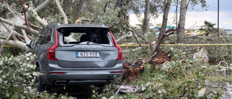Продължава разчистването на щетите в района наХалкидикислед преминаването насилната буря.Жертвитена