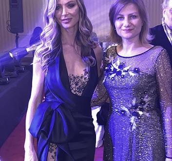 Джорджина Чапман и Анелия Петкова след ревюто в СалерноДжорджина Чапман,
