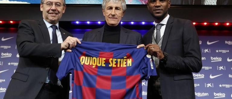 Новият треньор на Барселона Кике Сетиен беше официално представен на
