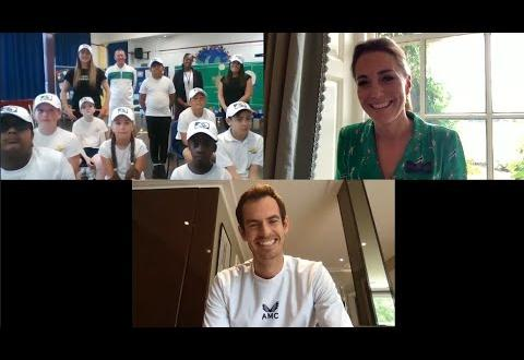 Кейт Мидълтън и Анди Мъри изненадаха млади тенисисти в Лондон
