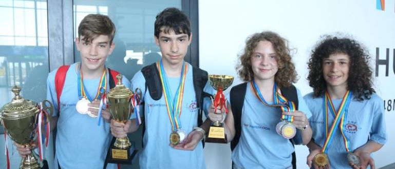 Тимът на Софийската математическа гимназия