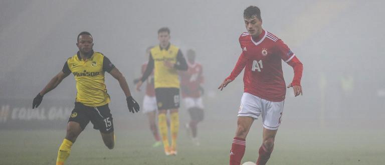 ЦСКА загуби отново от Йънг Бойс, този път с 0:1