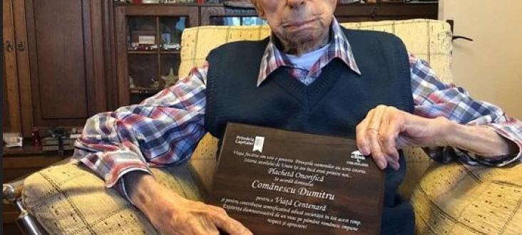 Румънецът Думитру Команеску от Букурещ е най-възрастният мъж в света