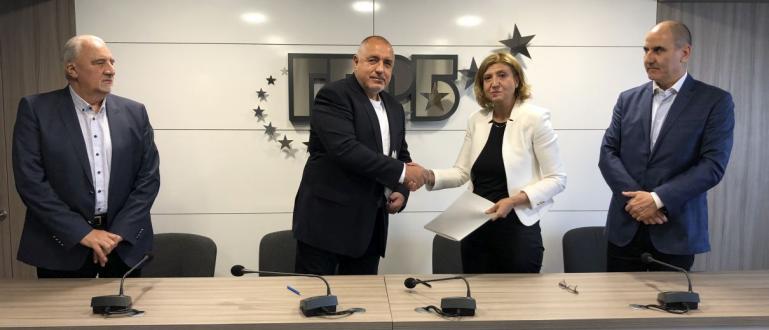 Споразумение за политическо партньорство подписаха днес ГЕРБ и ПП Български
