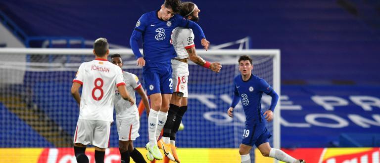 С четири гола на Оливие Жиру, Челси размаза Севиля в