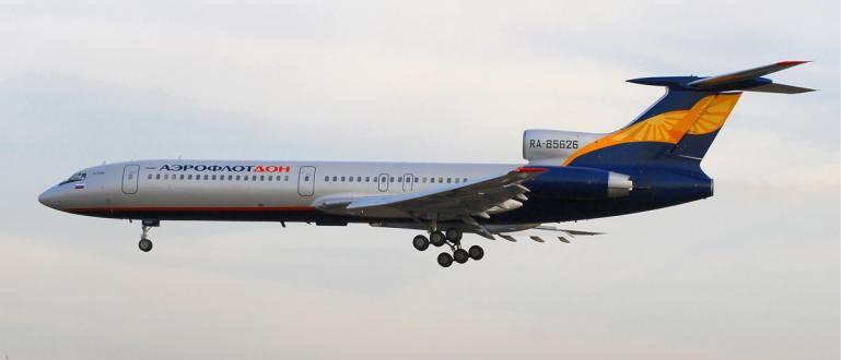 Самолетът Ту-154, водещ модел на съветската авиация, излетя в последния