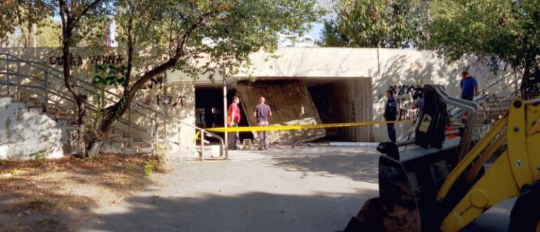 Вчера сутринта във Варна се срути таванът на подлез, който
