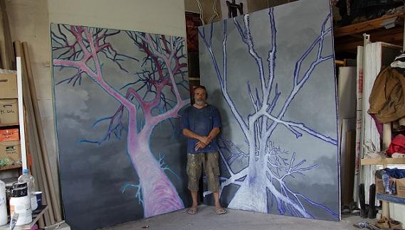"""Изложбата """"Пред мен"""" на авангардиста Венцислав Занков, която изследва екологичната"""